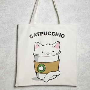 ☕️ Catpucchino Coffee & Cat Tote Bag ☕️